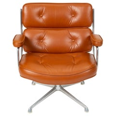 Ray and Charles Eames Time Life Lobby Chair in Cognac Leather