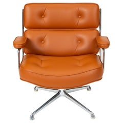 Ray and Charles Eames Time Life Lobby Chair with New Leather Upholstery