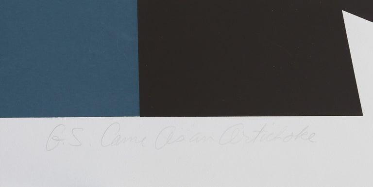 G.S. Came As An Artichoke - Abstract Geometric Print by Ray Elman