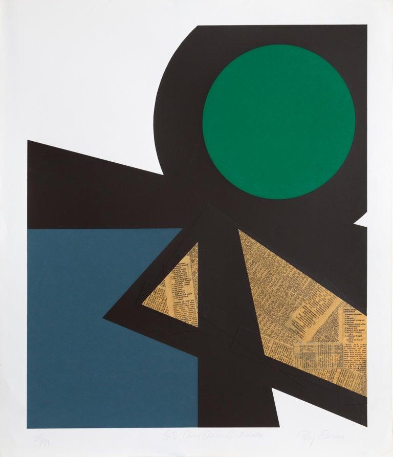 Ray Elman Abstract Print - G.S. Came As An Artichoke