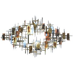 Ray H. Berger Brutalist Mix Metals Wall Sculpture