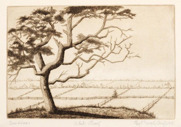Ray H. French Landscape Print - Survivor