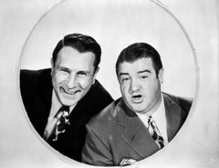 Abbott and Costello in Circle Fine Art Print