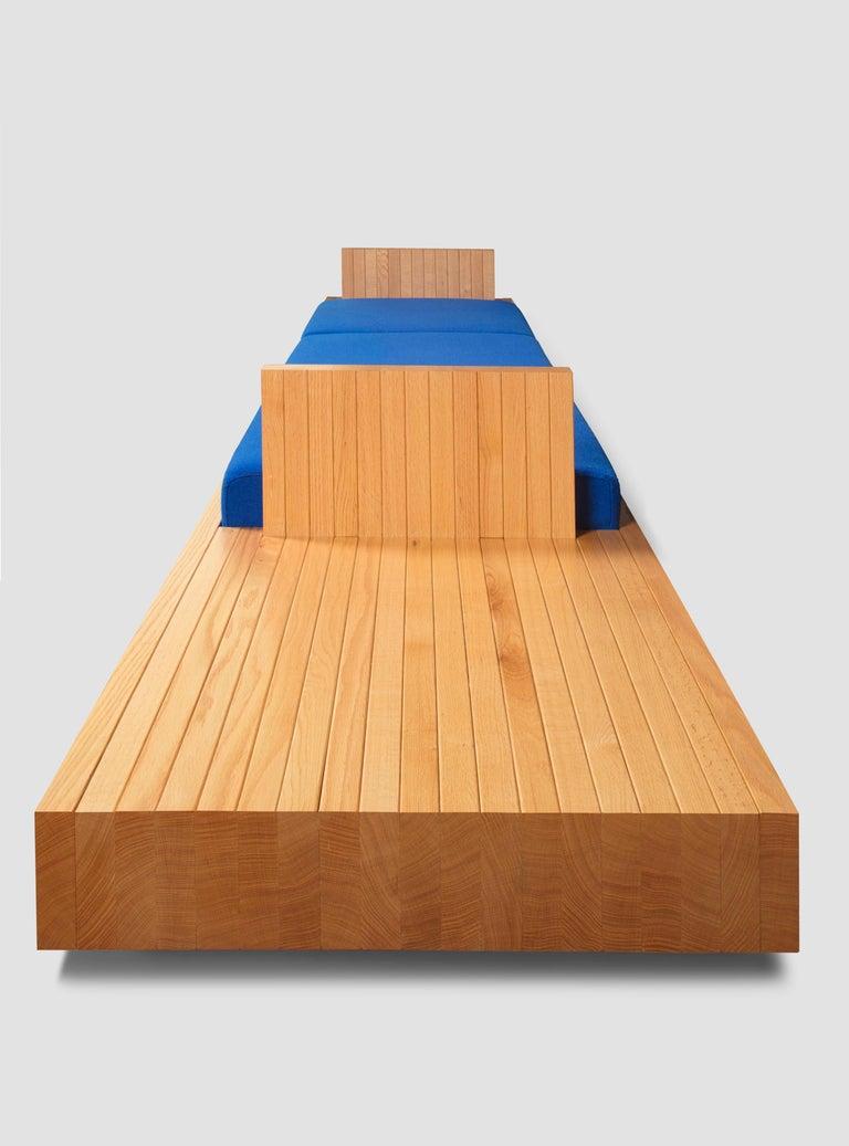 Woodwork Ray Kappe RK4 Sofa in Red Oak by Original in Berlin, Germany, 2020 For Sale