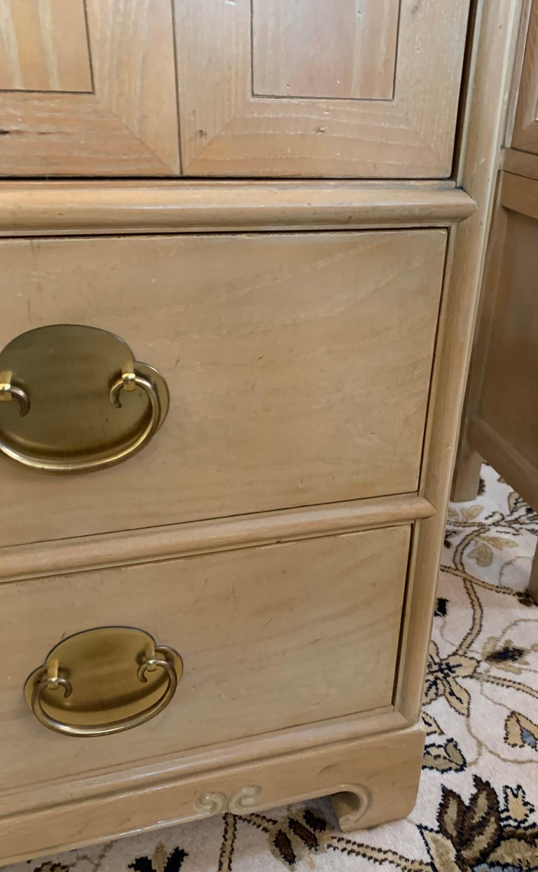 Ray Sabota for Century Furniture Midcentury Wardrobe Credenza Dresser Armoire In Good Condition For Sale In West Hartford, CT