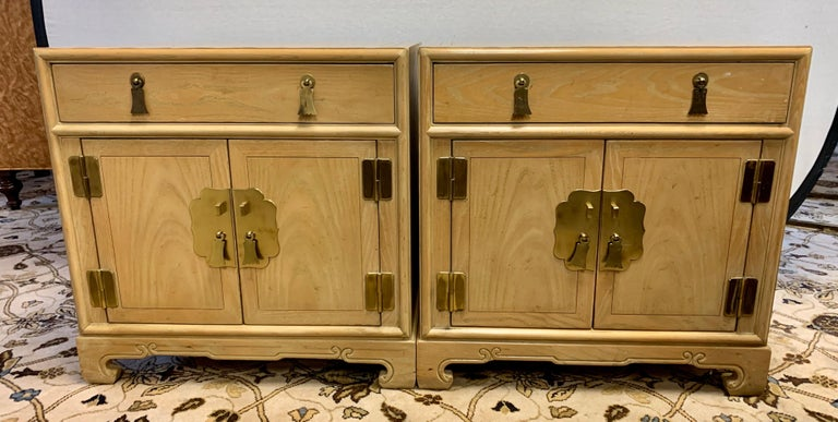 Ray Sabota for Century Furniture Three Piece Bedroom Set Dresser Two Nightstands For Sale 3
