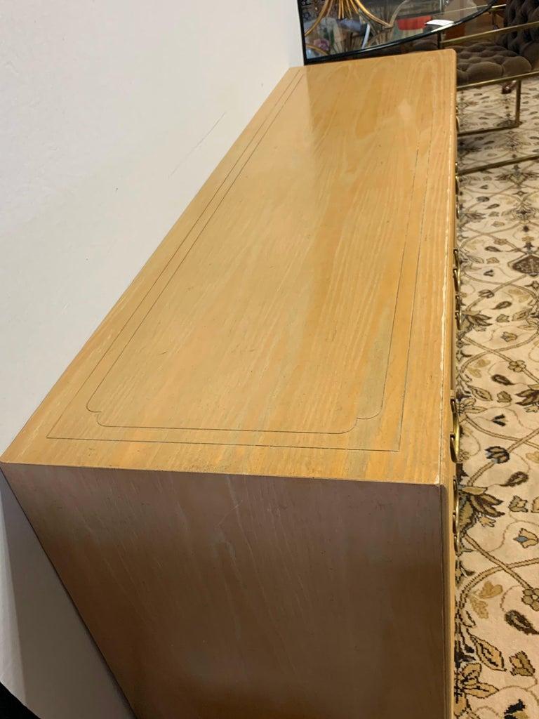 Ray Sabota Signed Century Nine Drawer Dresser For Sale 5