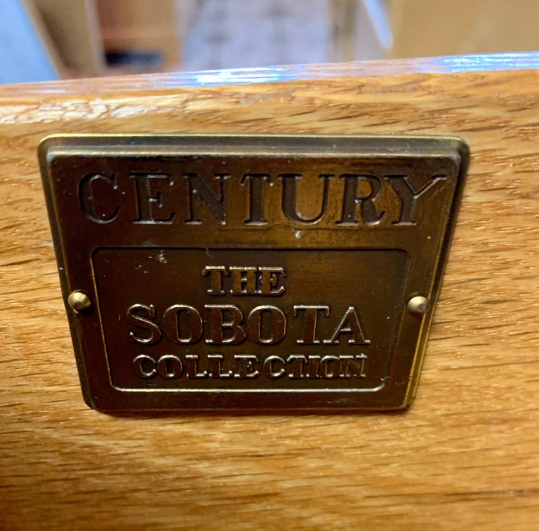 Ray Sabota Signed Century Nine Drawer Dresser For Sale 1