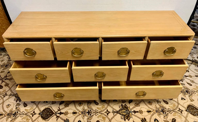 Ray Sabota Signed Century Nine Drawer Dresser For Sale 2
