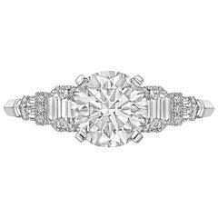 Raymond C. Yard 1.60 Carat Round Brilliant Diamond Ring 'G/VS2'