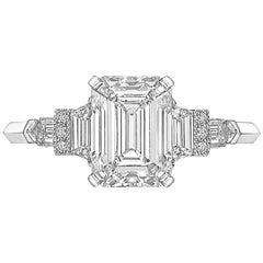 Raymond C. Yard 2.09 Carat Emerald-Cut Diamond Ring 'G/VVS2'