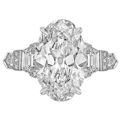 Raymond C. Yard 4.69 Carat Oval-Cut Diamond Ring 'G/VS2'