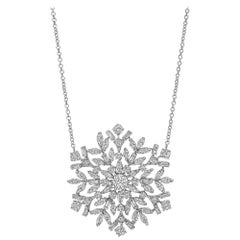 Raymond C. Yard Diamond Snowflake Pendant Necklace