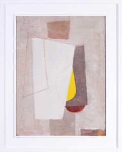 French 20th Century abstract oil painting 'Geometric forms'