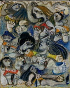 Femmes nues, Oil painting, Contemporary, French Artist Late 20th Century
