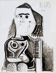 Fishnet stocking (I), R. Debiève, unique piece, Indian ink on paper