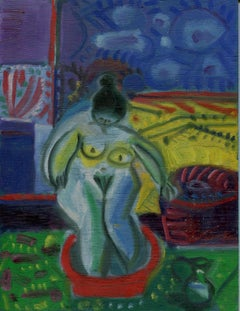 La toilette, Oil painting, Contemporary, French Artist Late 20th Century