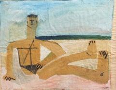 'Portrait of a Male Bather' by Raymond Debiève
