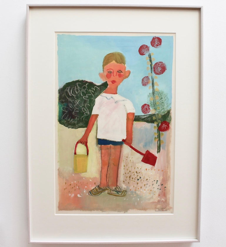 Portrait of Boy with Pail and Shovel For Sale 1