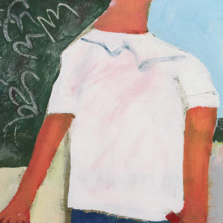 Portrait of Boy with Pail and Shovel For Sale 3