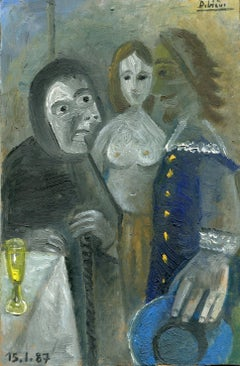 Sans titre, Oil painting, Contemporary, French Artist Late 20th Century