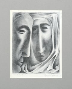 """Two Masks"" Lithograph"