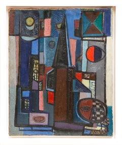 """La vocation du soir,"" oil on canvas painting by Raymond Grandjean, 1958"