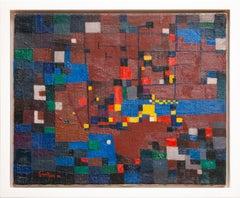 """Le chantier,"" oil on canvas painting by Raymond Grandjean, 1952"