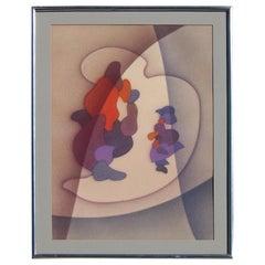 "Raymond Jonson Abstract Painting, 1941 - ""Watercolor No. 21"""