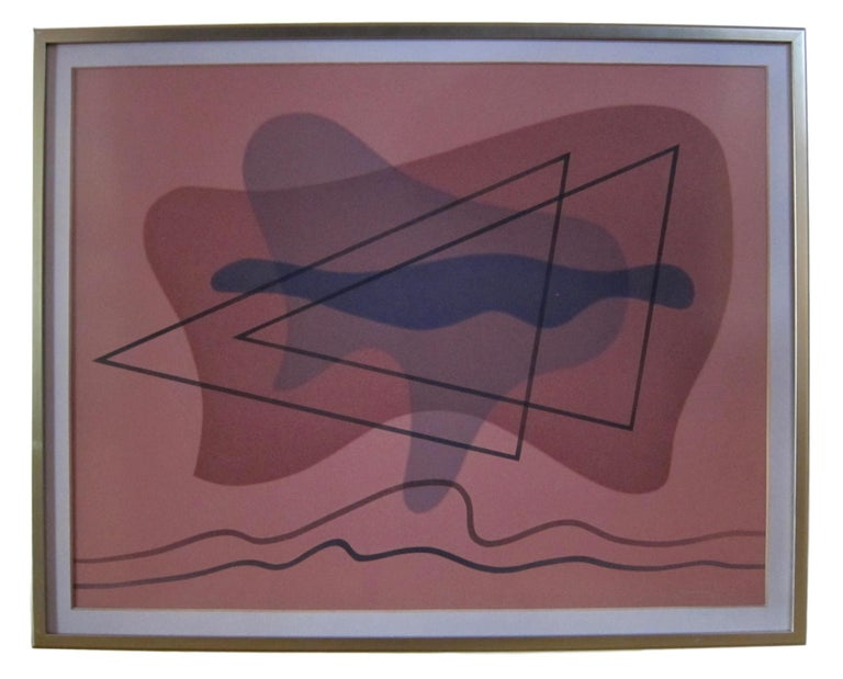 Raymond Jonson - 'Watercolor #8 - 1942' - American modernist painting - Abstract Painting by Raymond Jonson