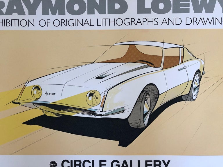 Raymond Loewy Circle Gallery 1979 Poster For Sale at 1stdibs