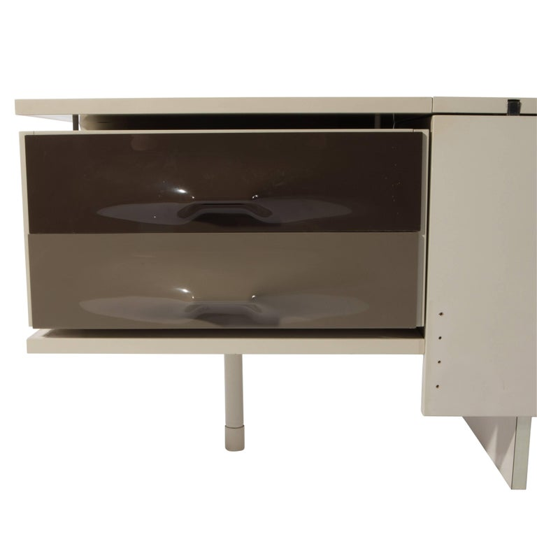 Mid 20th Century Raymond Loewy Df 2000 King Headboard With Built In Nightstands