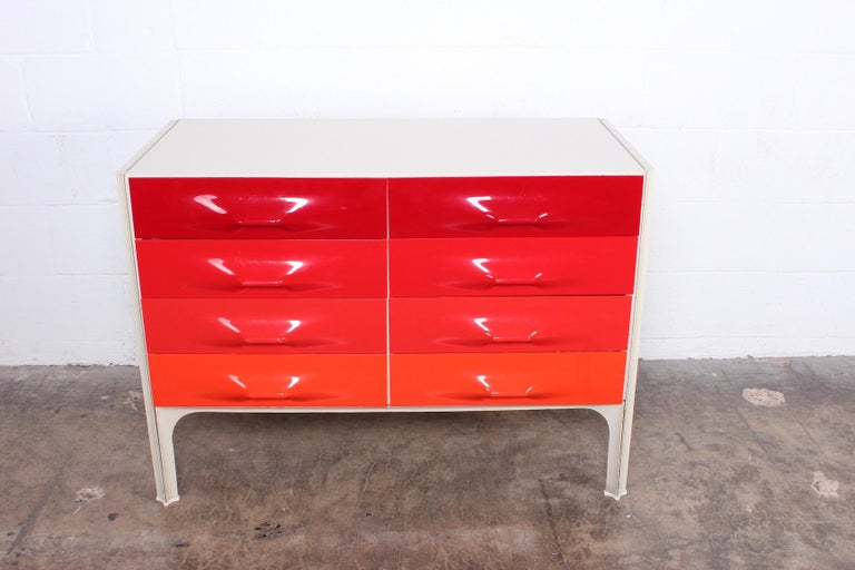 A DF2000 dresser or chest of drawers by Raymond Loewy.