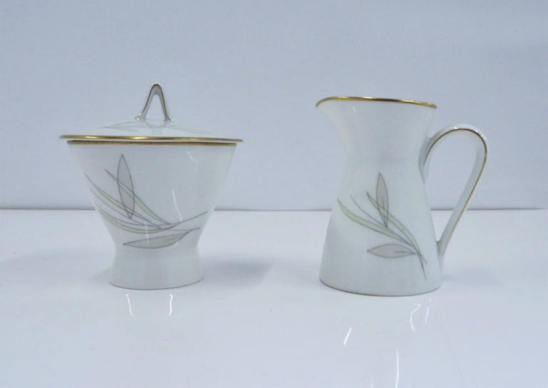 Raymond Loewy for Rosenthal Germany Modern Grasses Pattern Coffee Service 3 Pcs For Sale 1