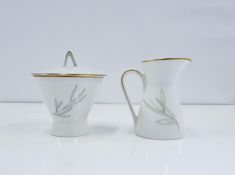 Raymond Loewy for Rosenthal Germany Modern Grasses Pattern Coffee Service 3 Pcs For Sale 2