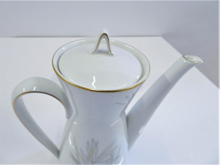 Raymond Loewy for Rosenthal Germany Modern Grasses Pattern Coffee Service 3 Pcs For Sale 3