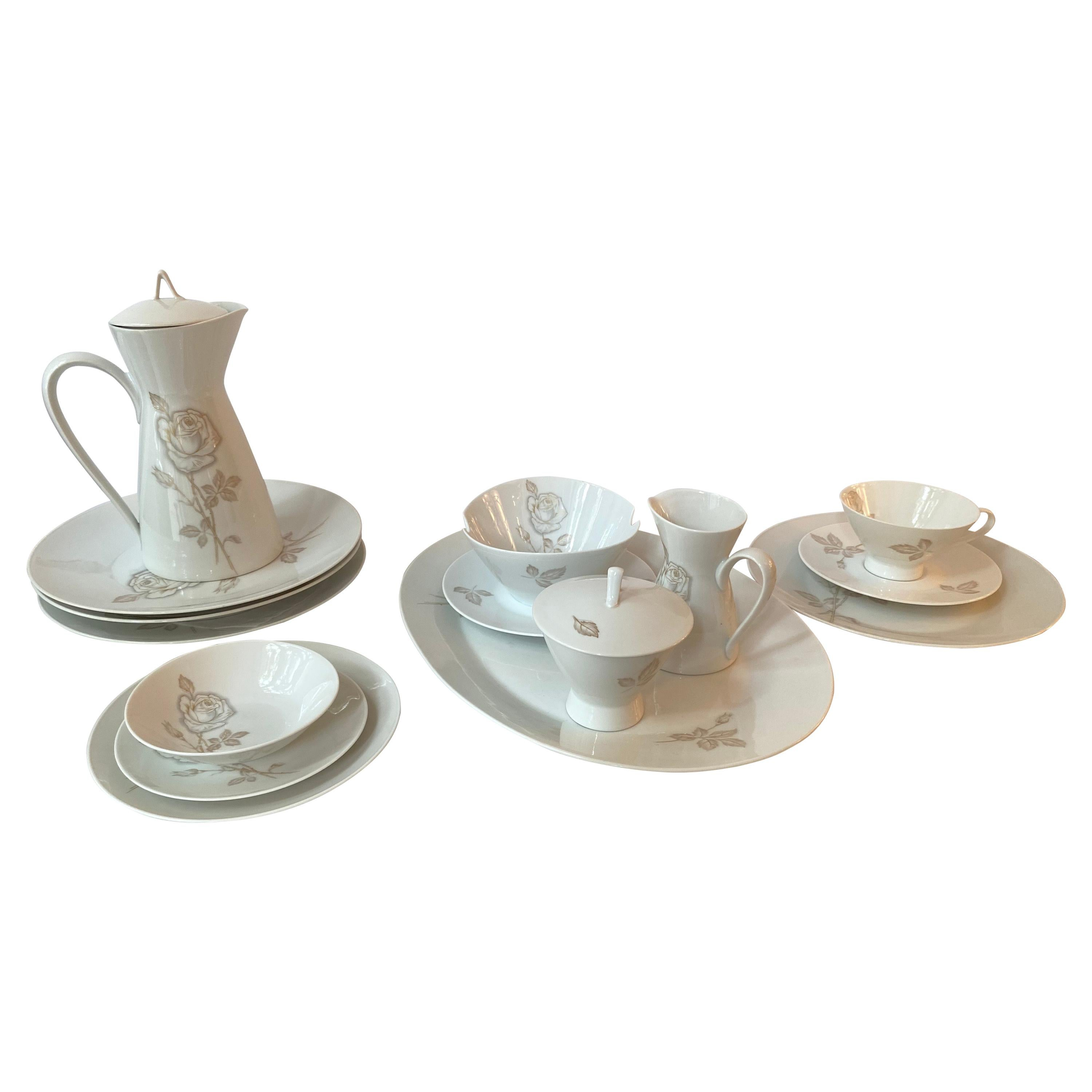 Raymond Loewy Set of Dishes Classic Rose/  74 Pieces Rosenthal, Germany
