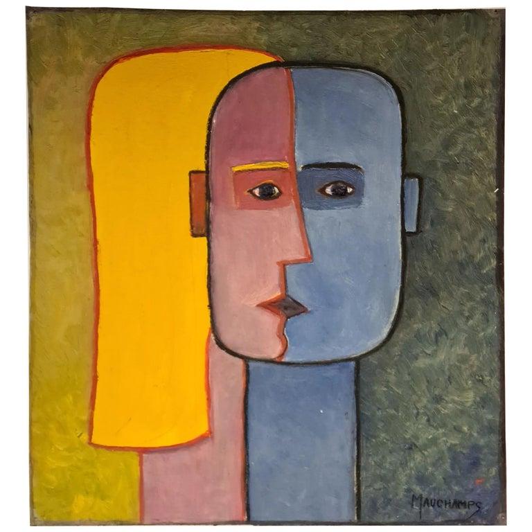 Raymond Mauchamps 'Xx-Xxi' Composition Aux Deux Visages For Sale