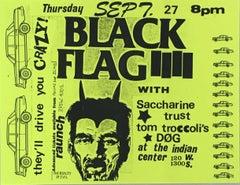Raymond Pettibon for Black Flag (Raymond Pettibon punk flyer)