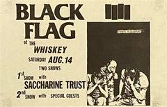 Raymond Pettibon illustrated Punk Flyer 1982 (Raymond Pettibon Black Flag)
