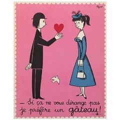 Raymond Peynet Couple of Lovers Original Vintage Poster