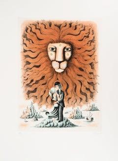 Astrology and Zodiac : Leo (Lion) - Original Etching, 1979