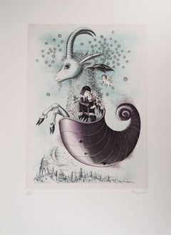 Astrology - Zodiac : Capricorn - Original Etching, 1979