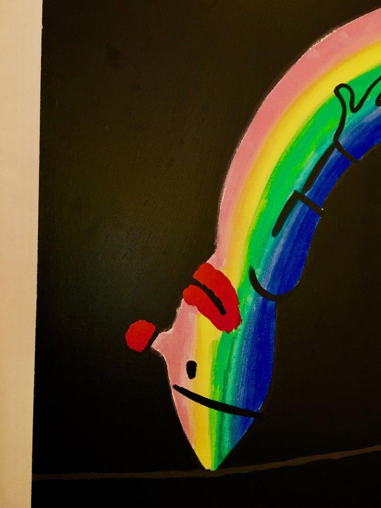 French Raymond Savignac, 'Savignac Rainbow', Original Vintage Poster, 1970 For Sale