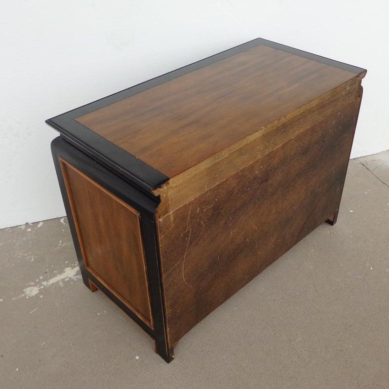 Ebonized Raymond Sobota Chin Hua Nightstands for Century Furniture For Sale