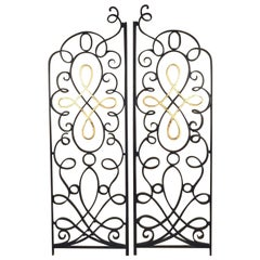 Raymond Subes Pair of Iron and Gilt Grilles/Gate