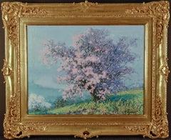 "Raymond Thibesart,""Printemps (Springtime), 1920"" Oil on Canvas 21 1/8 x 26 1/8"