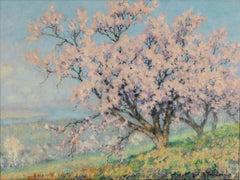 20th Century Impressionist landscape painting'Blossom Tree' by Raymond Thibesart