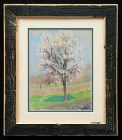 """Tree,"" circa 1920 Raymond Thibesart (France, 1874-1968) Pastel on paper"