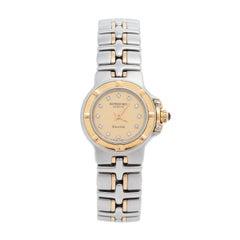 Raymond Weil Champagne Diamonds 18k Gold Parsifal 9690 Women's Wristwatch 23 mm